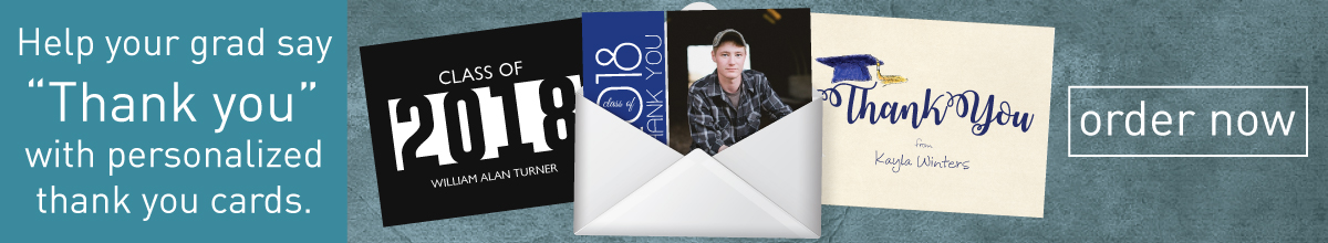 Personalized Graduation Thank You Cards